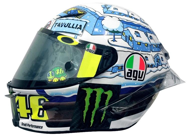 77ab9ba859e Nowe zimowe kasku Rossiego na czas zimowych testów MotoGP