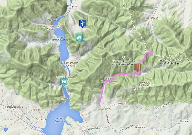 Trasa motocyklowa na mapie