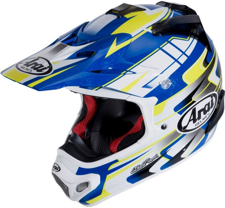 Arai MX-V Tip Yellow Blue